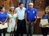 El Gobernador reelecto Luis Adolfo Flores Roberts junto a legisladores indígenas del Departamento elegidos por sus comunidades. | Foto GADP