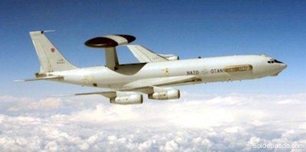 Avión E-3A de la flota AWAC de la OTAN