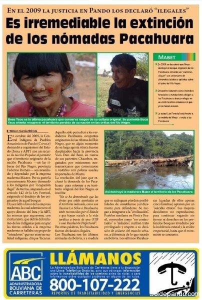 SOL DE PANDO IMPRESO | La historia de un etnocidio