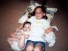 2001: Brooke de ocho años y Carly de cinco.