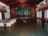 El interior de la capilla invadida por las aguas, imagen tomada el 17 de febrero. | Foto ©Vincent Vos
