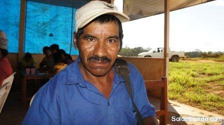 Juan Flores de la comunidad Tres Arroyos