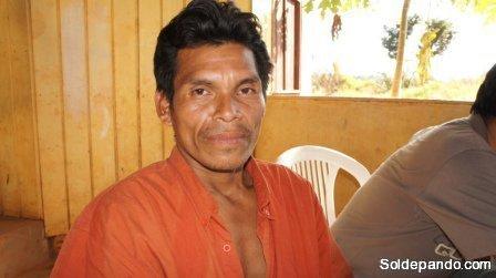 Sergio Huari Duri de la comunidad Planchón