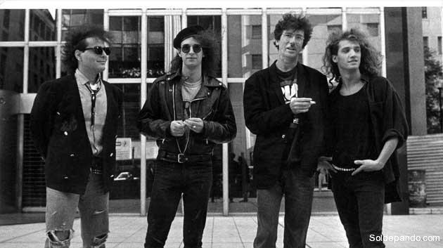 El trío Soda Stereo junto con Charly García que compartió escenarios y cantó junto a Gustavo Cerati.   Foto Archivo