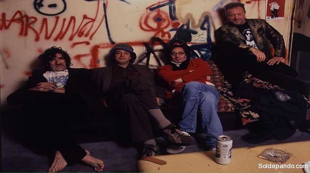 Los míticos del rock argentino: Charly García, Gustavo Cerati, Fito Paez y León Gieco.   Foto Eduardo Marti