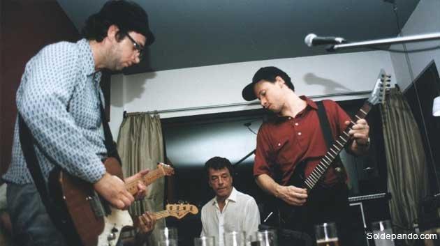 A puro rock. Gustavo Cerati con Morís y Antonio Birabent.