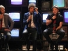 "Charly Alberti, Gustavo Cerati y Zeta Bosio durante un efímero re-encuentro de Soda Stereo para la gira ""Me verás volver"" a fines del 2007. | Foto AP"