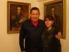 Hugo Chavez con Silvia Antelo