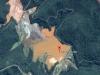 La localidad de Bento Rodrigues, en el municipio de Mariana, cerca a la ciudad de Belo Horizonte, capital del Estado de Minas Gerais, ha quedado completamente inundada por el barro tóxico de una mina de hierro cuyo embalse de desechos colapsó.   Foto Google Maps