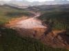La localidad de Bento Rodrigues, en el municipio de Mariana, cerca a la ciudad de Belo Horizonte, capital del Estado de Minas Gerais, ha quedado completamente inundada por el barro tóxico de una mina de hierro cuyo embalse de desechos colapsó.   Foto AP