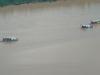 Dragas ilegales que surcan los ríos de Pando derramando mercurio. | Foto Sol de Pando