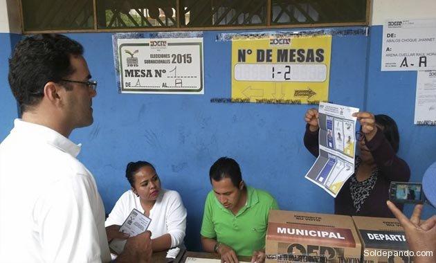 Votacion Cobija   Foto Radio Universitaria UAP