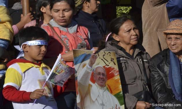 La cárcel de Palmasola recibió el mensaje de libertad y dignidad del Papa. | Foto ABI