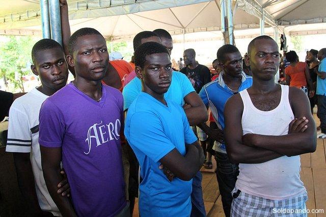 Haitianos em Brasileia