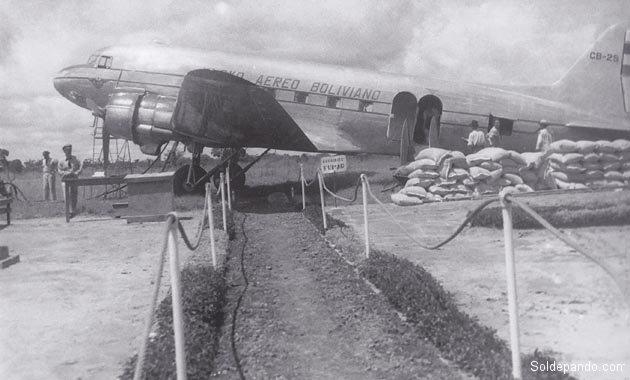 La pista aérea de Cobija para el LAB después de la Guerra del Chaco. | Foto Rodolfo Torrico Zamudio