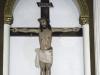 La imagen del Cristo Crucificado en el altar principal de la Iglesia mariana. | Foto Silvia Antelo Aguilar