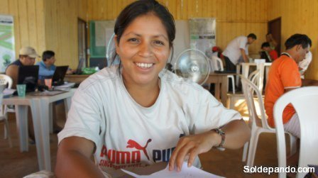 Didiana Gutierres de la comunidad Tres Arroyos
