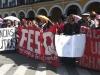 Diversos sectores del movimiento social se sumaron a las demandas estudianrtiles de San Simón.  | Foto FUL CBA