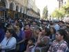 Madres de familia de barrios populares apoyaron a los universitarios el Primero de Mayo, durante una concentración en la Plaza 14 de Septiembre.  | Foto FUL CBA