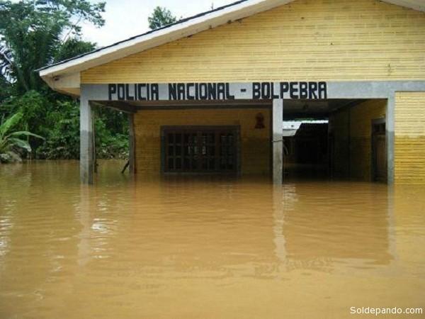 El municipio de Bolpebra en febrero del 2012, durante la inundaciòn del río Acre, mostró, como San Pedro y Villa Nueva-Loma Alta, la alta vulnerabilidad de los munisipios rurales de Pando.