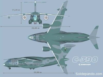El Embraer KC-390 presenta los costes totales más bajos por ciclo de vida y la mayor disponibilidad de su clase.Con la capacidad de ser reabastecido en vuelo y también de configurarse rápidamente como avión cisterna, el KC-390 utiliza aviónica de vanguardia, con HUD doble y un sistema de misión completo, e incluye un preciso sistema para el cálculo del punto de lanzamiento de carga por ordenador. Está equipado con un sistema completo de autoprotección y es totalmente compatible con sistemas de visión nocturna.