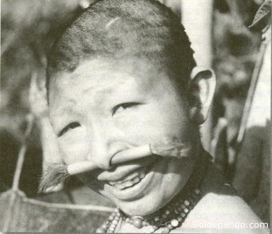 Bosé Yacu, niña, cuando fue llevada de su bosque originario de Pando hacia una reservación chacoba en Riberalta, donde muruó olvidada y desterrada hace menos de un año. | Foto Archivo Sol de Pando