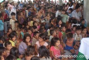 En el censo del 2001, Pando registró una población de 52.525 habitantes, mientras que en el censo realizado en noviembre pasado la densidad poblacional pandina llegó a 109.173 habitantes, registrándose un incremento de 56.648 nuevos pobladores en una década, lo cual representa el 108% de crecimiento poblacional, el mayor del país. | Foto Silvia Antelo Aguilar (niños Esse Ejjas de Pando)