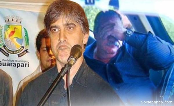 Los ex alcaldes (prefeitos) de Guarapari, Edson Magalhães, y de Linhares, Guerino Zanon, dos de los ocho alcaldes de Espíritu Santo encarcelados por corrupción.