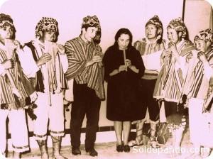 """Con """"Los Choclos"""" en Santiago, 1966"""