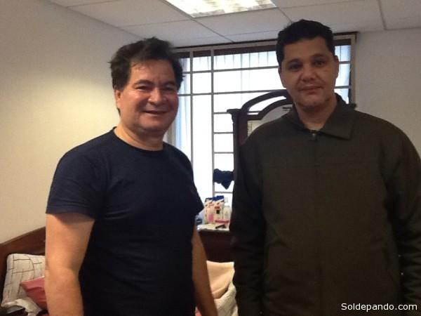 Un encuentro entre dos senadores acreanos: Roger Pinto de Pando y Ricardo Ferraco de Capixaba.