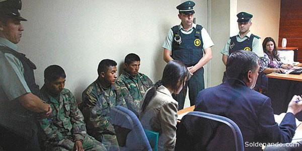 Los tres soldados bolivianos que fueron detenidos por carabineros el pasado 25 de enero, fueron liberados la mañana de este 1 de marzo por la justicia chilena. | Foto cortesía Erbol