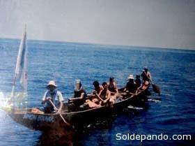 La expedición surcando el mar Caribe.