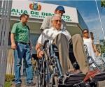 Gary Prado Salmón durante su comparecencia a la Fiscalía de Santa Cruz, al pasado 21 de enero, desafiando la orden de aprehensión gestionada en Tarija por el fiscal Soza. | Foto El Día