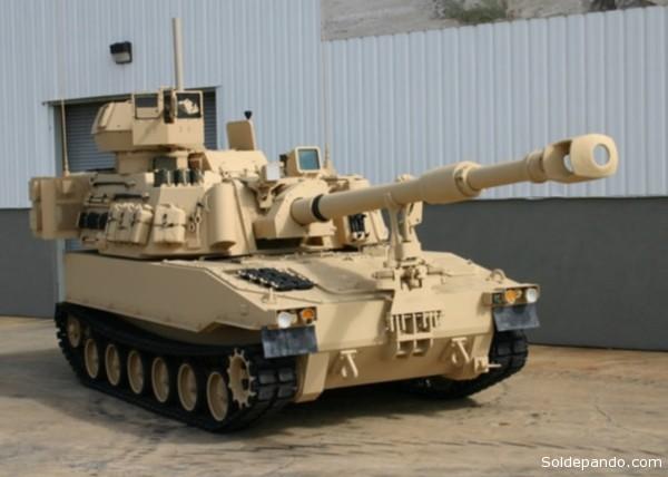 El abus autopropulsado VBCOAP M109 A5 155 de fabricación norteamericana.