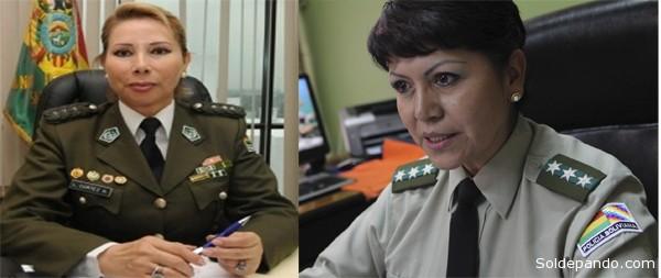 Tanto Cortez como Cerruto pertenecen a la promoción 1982 de la Policía Nacional. | Fotomontaje Sol de Pando