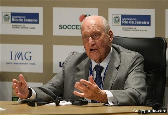 Havelange, de 96 años, renunció a su cargo honorario el 18 pasado después de confirmar la comisión de ética de la FIFA, creada en el 2012, las acusaciones de haber sido comprado en su período al frente del organismo de 1974 a 1998.