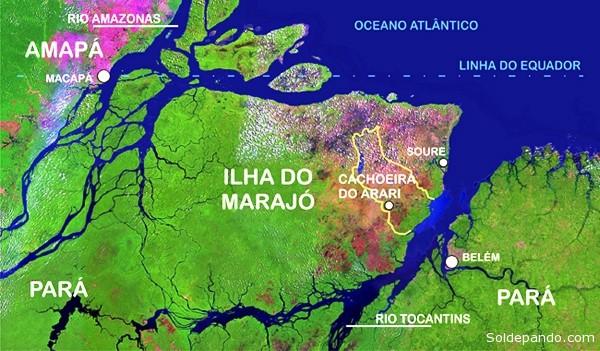 O barco naufragó na madrugada desta sexta-feira (19) nas proximidades de Cachoeira do Arari, na região do Marajó, no Pará,