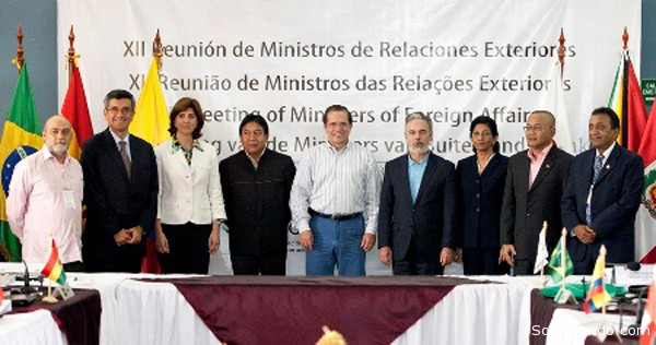 Los ministros, embajadores y delegados apoyaron la creación de la Red de Centros de Investigación Amazónica, a partir de un documento base preparado por Ecuador, para intercambiar conocimientos e investigaciones.   Foto OTCA