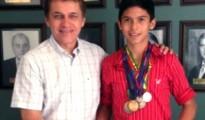 Luis Alberto Pinto junto al Presidente del Comité Cívico de Santa Cruz, Fernando Castedo. | Foto EjuTV