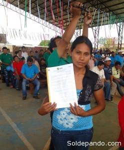 El acto de entrega se realizó en la sede de la Federación Sindical Única de Trabajadores Campesinos Regional Madre de Dios.