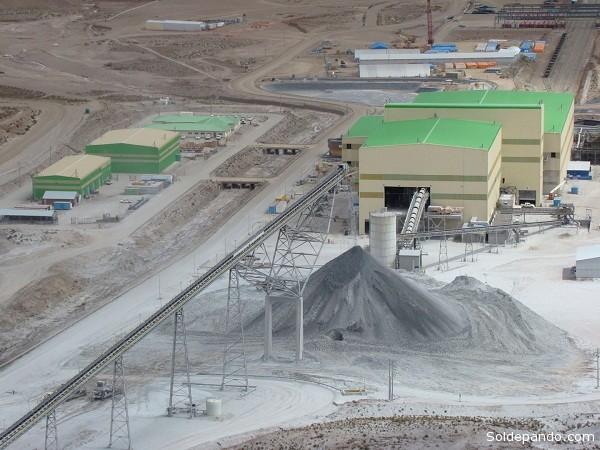 La empresa minera San Cristóbal es uno de los mayores emprendimientos mineros privados en Bolivia.   Foto Minera San Cristóbal