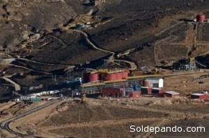 Proyecto Minero San Bartolomé ubicado en Potosí, propiedad de la empresa minera Manquiri.