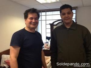 Roger Pinto y Ricardo Ferraco de Capixaba, el senador brasileño que visitó a Pinto en marzo de este año en La Paz.