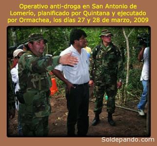 El protagonismo que Quintana le facilitó a Ormachea en aquel operativo, garantizó su ascenso a Mayor. | Foto archivo El Día