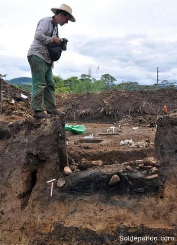 Las huellas halladas dan cuenta de una casa ovalada, de 17 metros de largo por once de ancho. | Foto EFE
