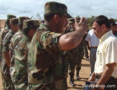 Quintana es el único dirigente político en Bolivia que ejerce mando de tropa. | Foto archivo Sol de Pando
