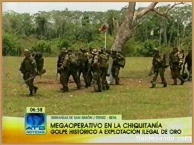 """Así informaban los medios sobre otro """"mega-operativo"""" organizado y dirigido por Quintana, en octubre del 2010, donde también intervino el policía Fabricio Ormachea coordinando acciones con las Fuerzas Armadas."""