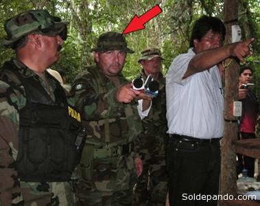 Su cercanía al propio presidente Evo Morales era evidente, al menos desde el 2009 cuando dirigía operativos antinarcóticos en el Oriente.   Foto Archivo El Día
