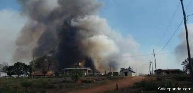 Miles de hectáreas fueron devoradas por el fuego de los chaqueos en la región chiquitana de Santa Cruz.   Foto El Deber tomada de Erbol