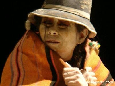 La actriz boliviana Sandra Peña interpretando en México al personaje creado por Bizot.